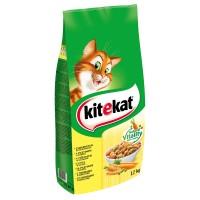 Hrană uscată pentru pisici, vită și legume, Kitekat, 12kg