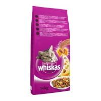 Hrană uscată pentru pisici, adult, Whiskas, 14kg